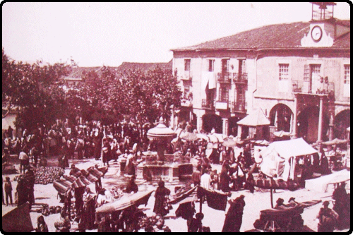 Main square at the middle of the XX century