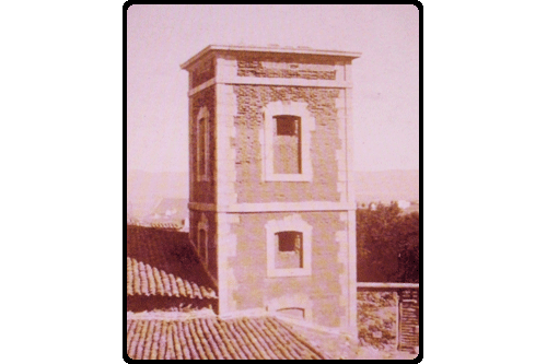 The clock tower around 1920